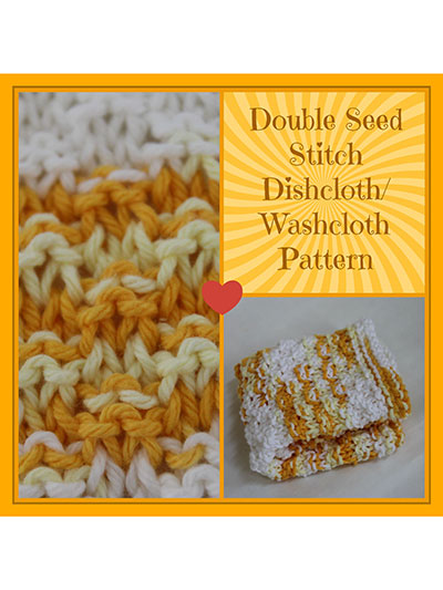 Knitting Stitches Double Seed : Knitting - Home & Kitchen - Kitchen Patterns - Dishcloth Patterns - Doubl...