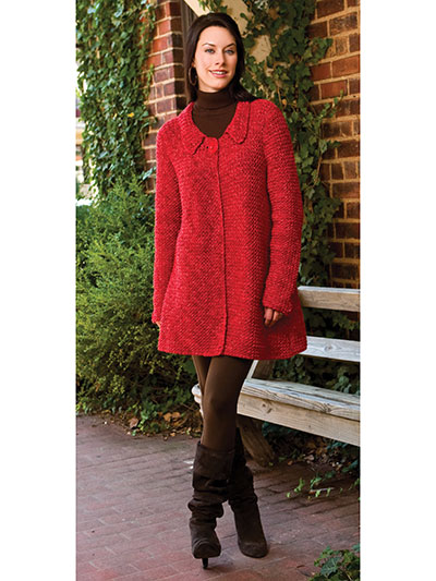 Very Vermilion Car Coat