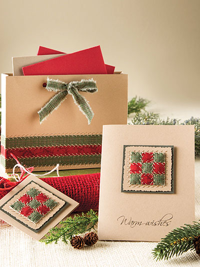 Quilted Fabric Gift Card Set