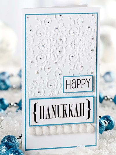 Hanukkah Card & Chocolate Gift Set