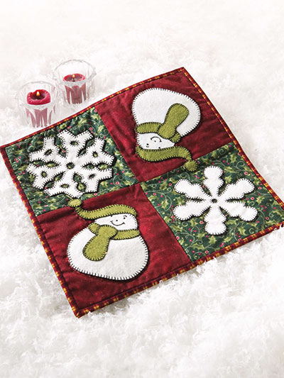 Holiday Fun Candle Mat