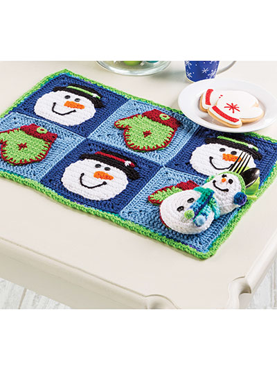 """Snow"" Much Fun Place Mat Set"