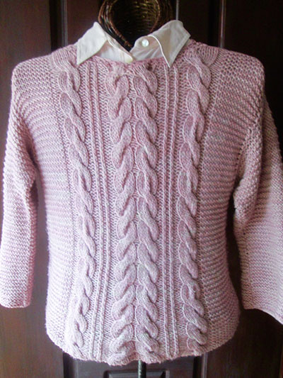 Gaelica Cabled Pullover
