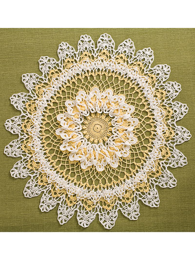 Yellow & White Table Topper