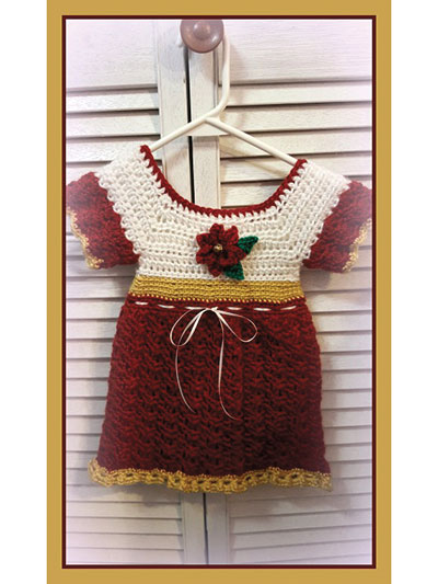 Baby Poinsettia Holiday Dress