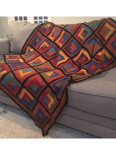 Scrappy Log Cabin Throw