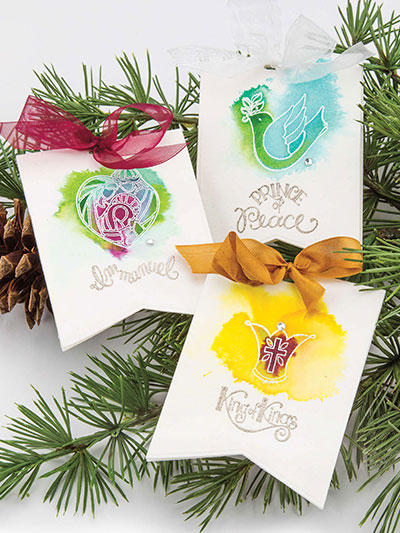 Embossed Christmas Tags