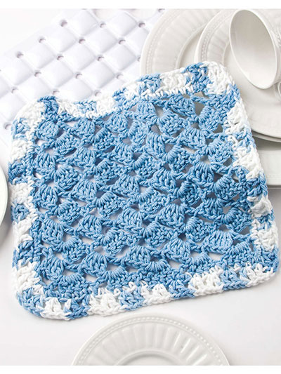 Flying Shells Dishcloth