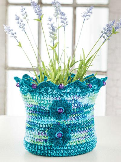 Whats New - Crochet - Wildflower Basket