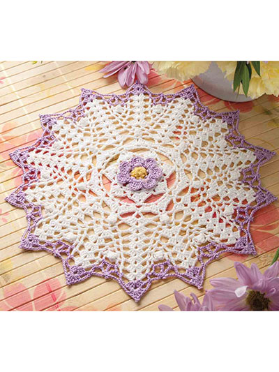 Signs of Spring Doily