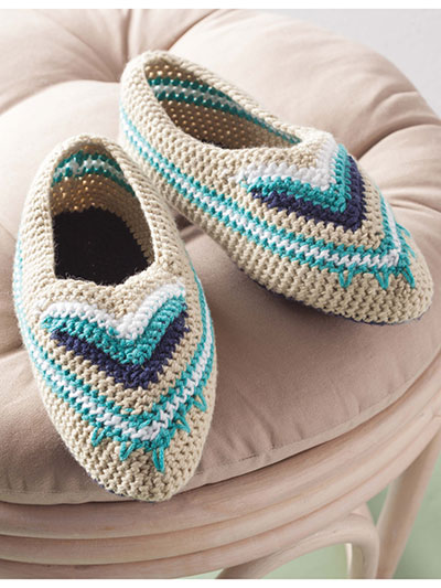 Chevron Band Slippers