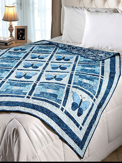 Butterflies in Blue Quilt