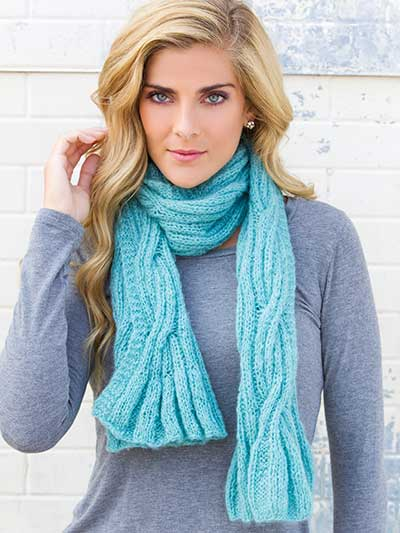 Above the Clouds Scarf Knit Pattern Annie's Signature Designs