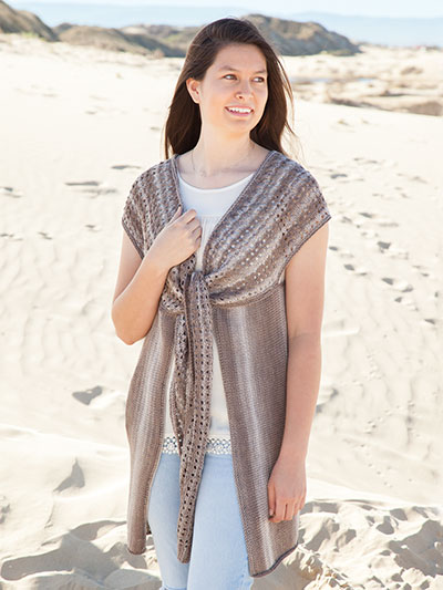 Annie's Signature Designs: Ventana Vest Knit Pattern