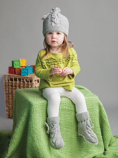 Annie's Signature Designs: Miki Hat & Booties Knit Pattern