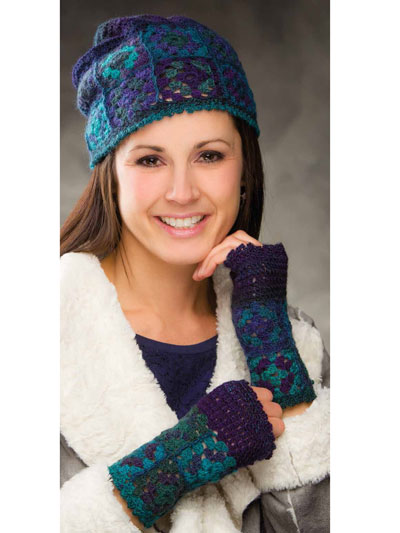 Annie's Signature Designs: Coldwater Canyon Hat & Mitts Crochet Pattern