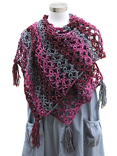 Annie's Signature Designs: Lovers Knot Shawl Crochet Pattern