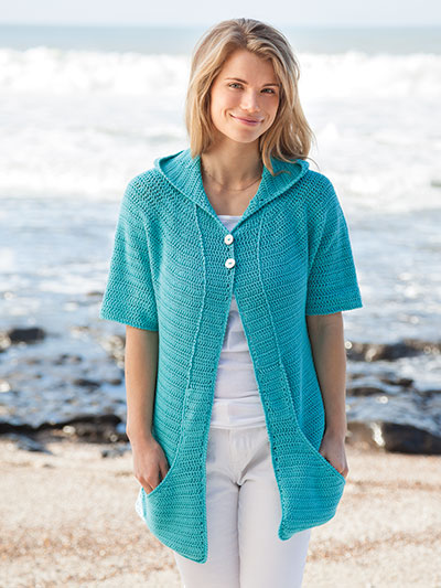 Annie's Signature Designs: Central Coast Cardi Crochet Pattern