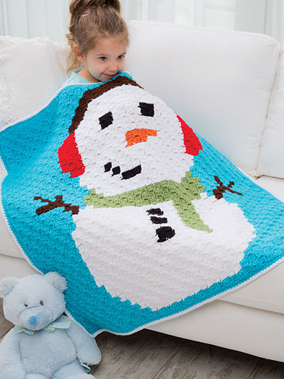 Snowman Throw Crochet Pattern