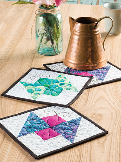 Butterfly Trio Hot Pads Pattern