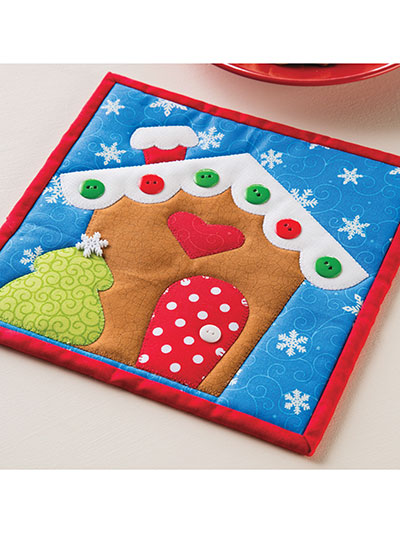 Gingerbread House Pot Holder Pattern