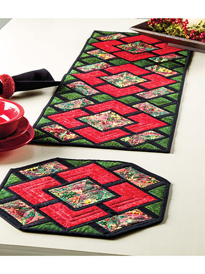 Winter Runner & Place Mats Pattern