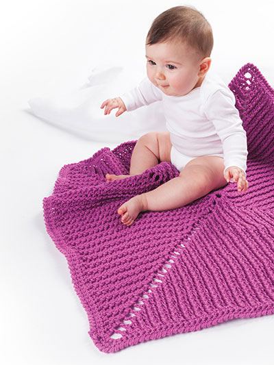 Raspberry Kisses Baby Blanket Crochet Pattern