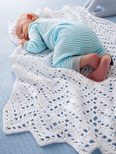 Angel Baby Blanket Crochet Pattern