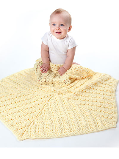 Lemon Drop Baby Blanket Crochet Pattern
