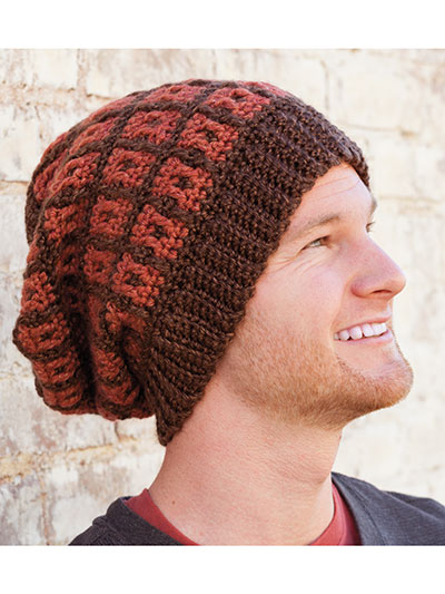 Mosaic Grid Hat Crochet Pattern