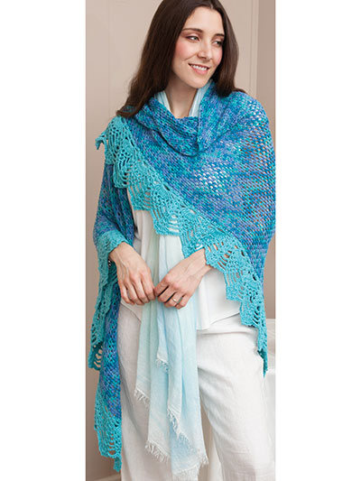 Summer Seaside Shawl Crochet Pattern