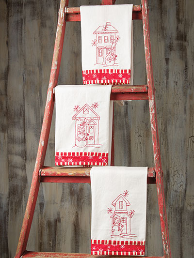 Blizzard Buddies Tea Towels Pattern