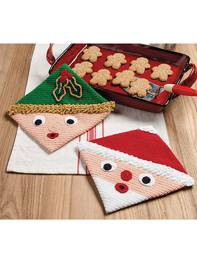 Santa & Elf Hot Pads Pattern
