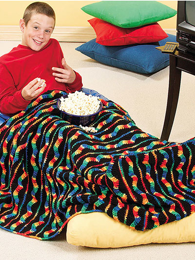 Rainbow Ripple Lap Robe Pattern