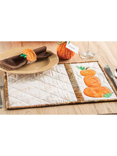 Pumpkin Stack Place Mat & Napkin Holder Pattern