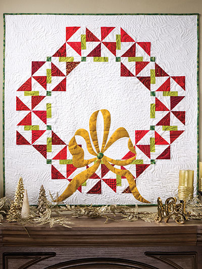 A Quilter's Wreath Pattern