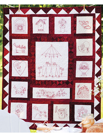 Garden Party Wall Quilt Pattern