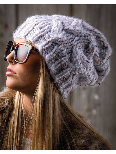 Slouchy Cable Cloche