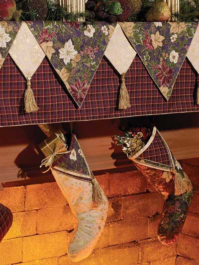 Mantel Cover & Stockings