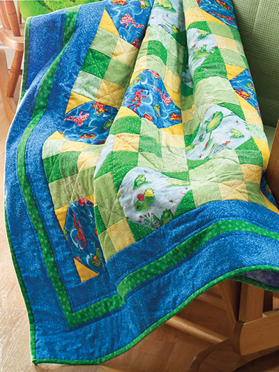 Leapin' Nine-Patch Quilt Pattern