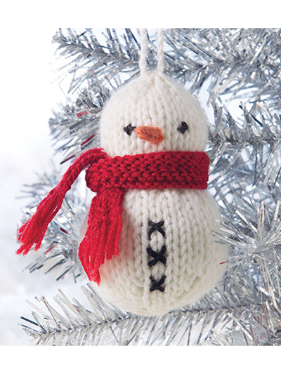 Snowdie Ornament Knitting Pattern
