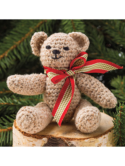 Christmas Bear Ornament Crochet Pattern