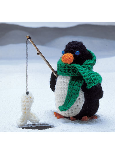 North Pole Pals Penguin Ornament Crochet Pattern