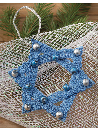 Star of David Ornament Crochet Pattern