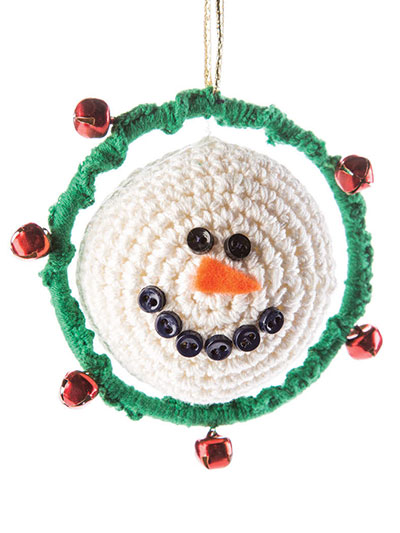 Spinning Snowman Ornament Crochet Pattern
