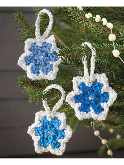 Glittery Star Ornaments Crochet Pattern