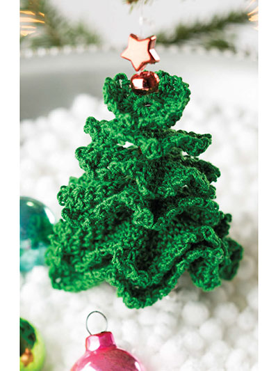 Little Christmas Tree Ornament Crochet Pattern