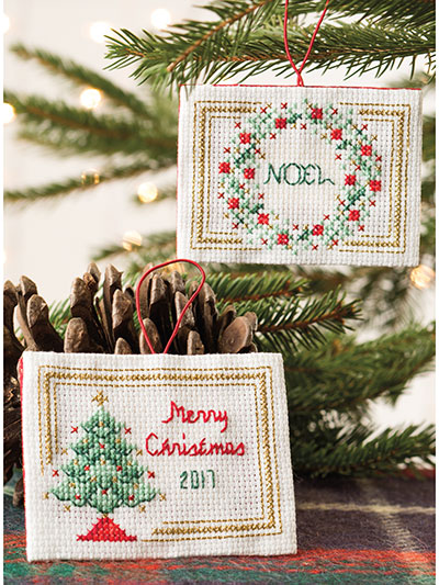 Christmas Sparkle Ornaments Cross-Stitch Patterns
