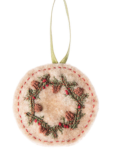 Wreath What You Sew Ornament Cross-Stitch Patterns