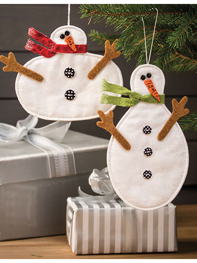 Snowmen Come in All Shapes & Sizes Ornament Pattern